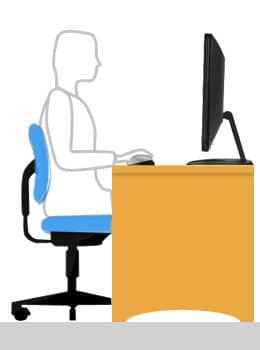 Une bonne position de travail - Cours Informatique Gratuit Xyoos