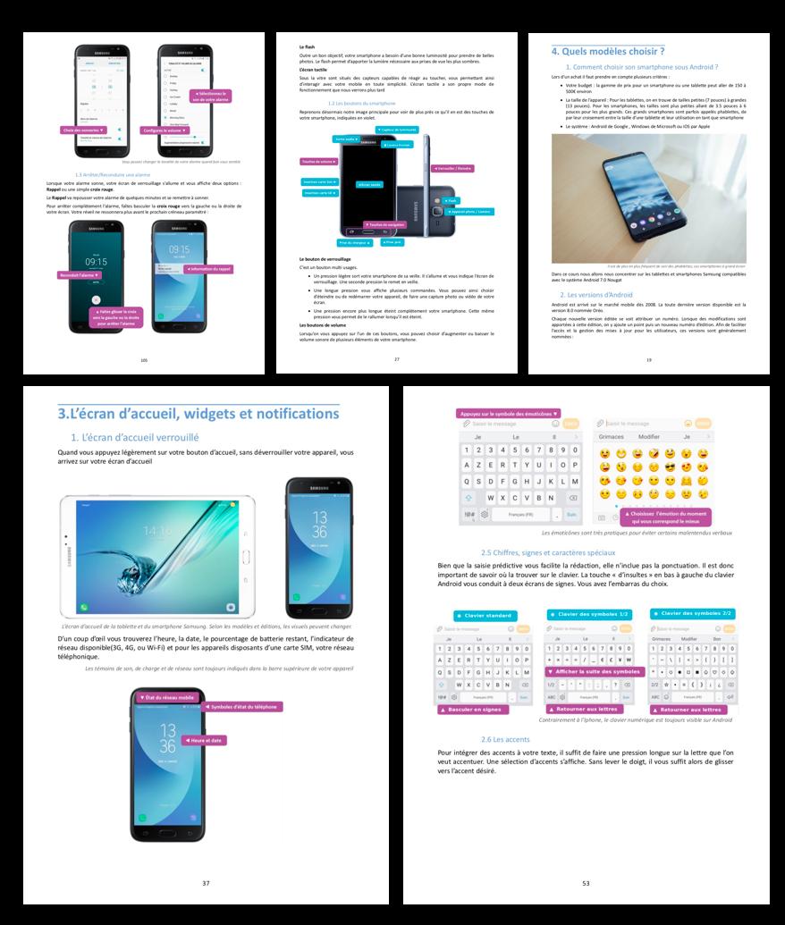 Quelques pages de l'ebook Xyoos pour iPhone / iPad