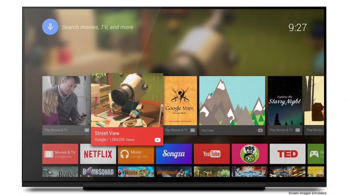 Un téléviseur équipé d'Android TV