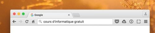barre recherche adresse chrome