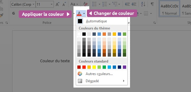 Changer couleur