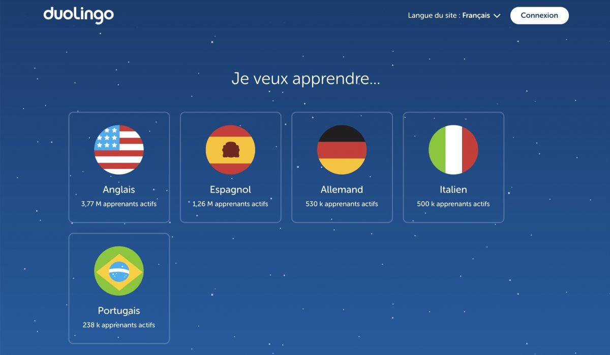 Apprendre une nouvelle langue sur Internet