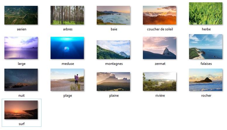 Fichiers à sélectionner