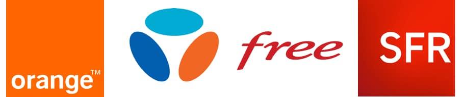 Les Fournisseurs d'accès à Internet français : Free, SFR, Orange, Bouygues