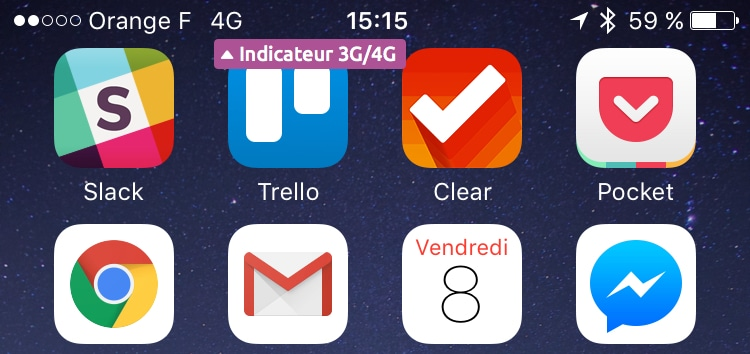 indicateur 4G mobile