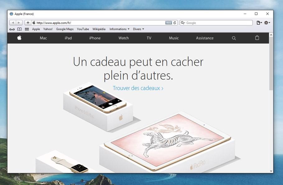 Navigateur Safari d'apple