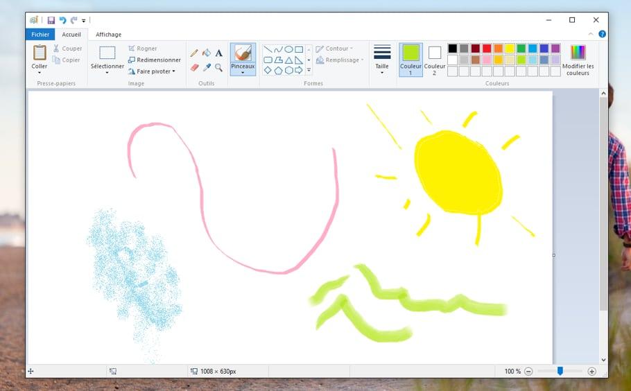Oeuvre d'art sur Paint !