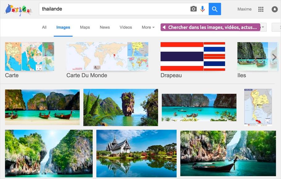 Recherche d'images avec Google
