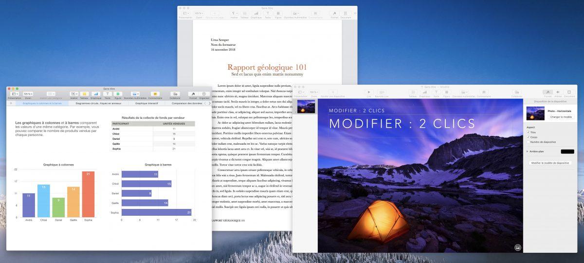 Les logiciels de bureautique de Mac