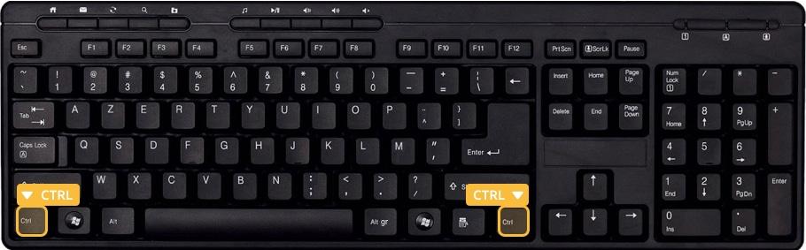 Les touches CTRL du clavier