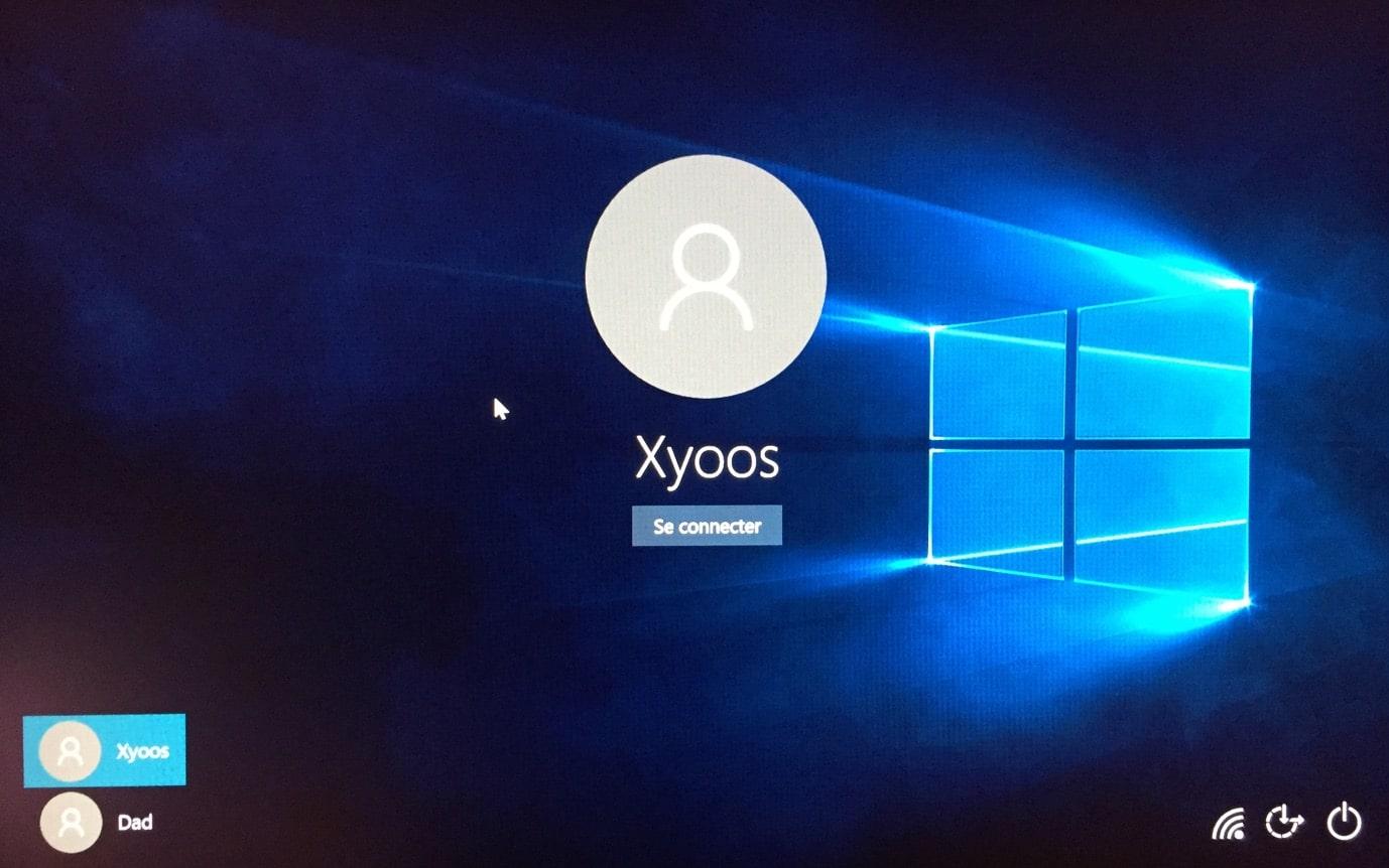 Écran de connexion Windows 10