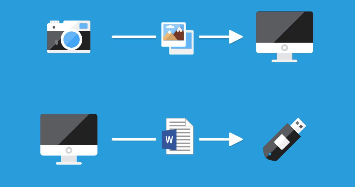Sur Winows on manipule souvent des fichiers : on les copie, on les déplace...