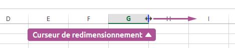 Élargir une ligne ou colonne Excel