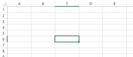 Sélection d'une cellule Excel