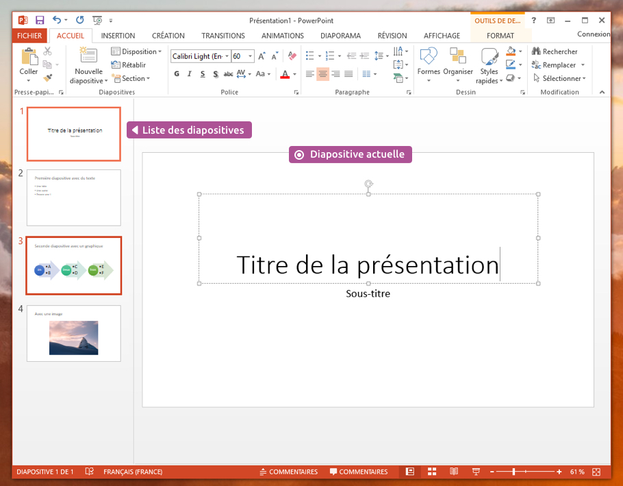 Interface de PowerPoint