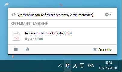 synchronisation Dropbox