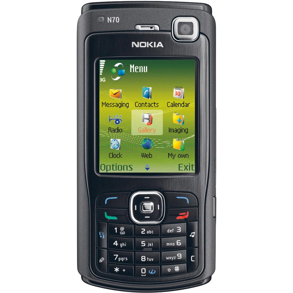 Le nokia N70, un smartphone à la mode dans les années 2005