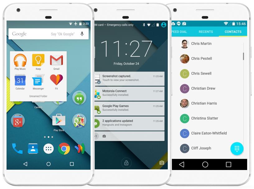 Un Google Pixel et son système d'exploitation Android