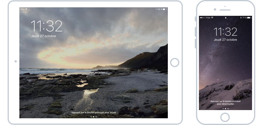 L'écran d'accueil de votre iPad et iPhone