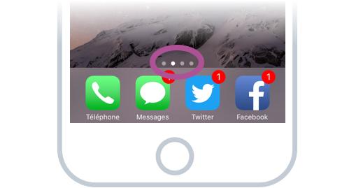 Dans cet exemple on voit que l'on a 4 écrans disponibles