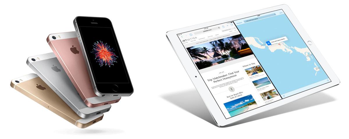 Des iPhones et un iPad