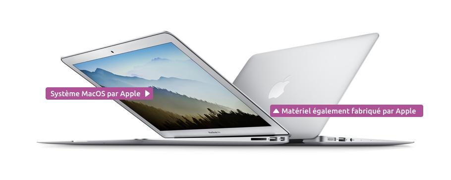 Apple construit les Macbook ainsi que le système MacOS qui les équipe