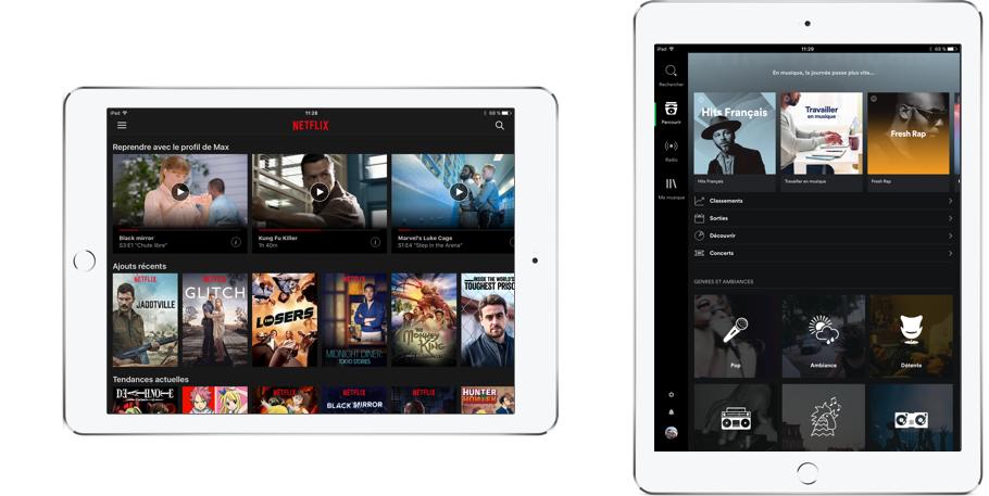 Netflix vous permet de regarder des films et séries et Spotify écouter de la musique