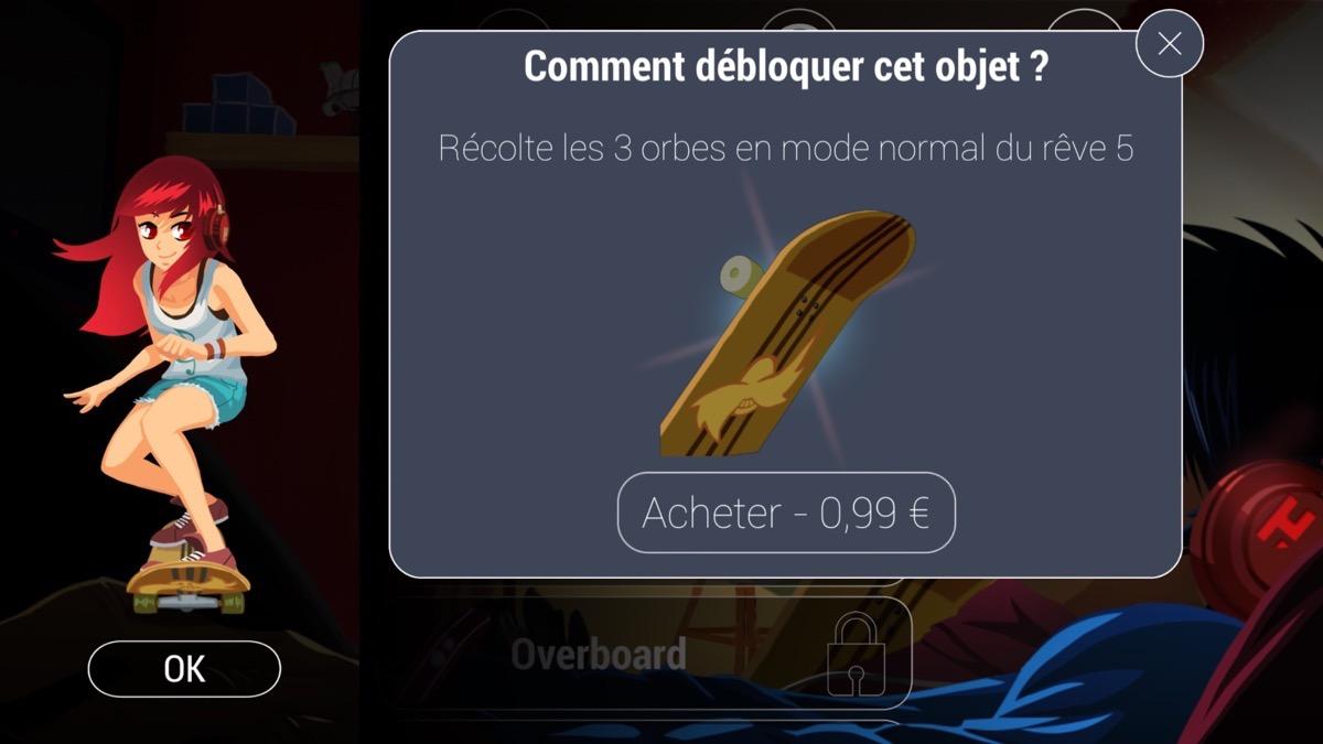 Débloquer un nouvel objet dans un jeu grâce à l'achat dans l'application