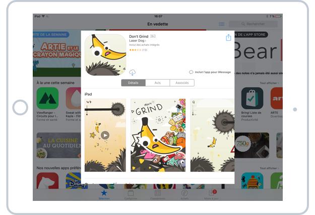 Les détails d'une application de l'App Store