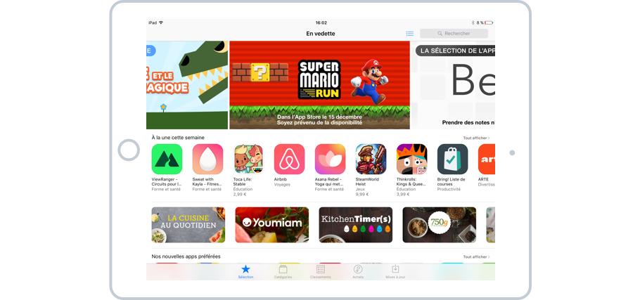 L'App Store propose une sélection des meilleures apps du moment