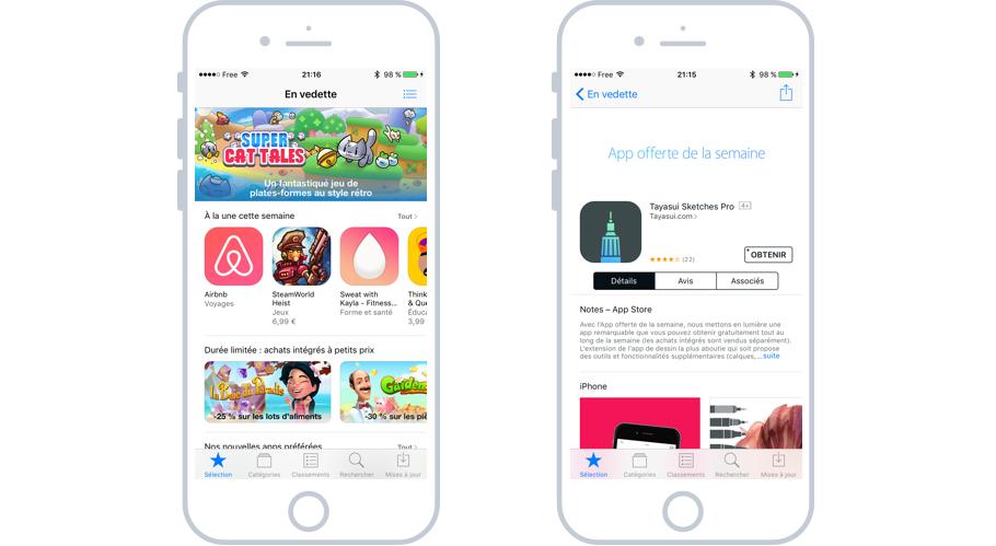 L'App Store permet de télécharger de nouvelles apps sur votre iPhone / iPad et ainsi ajouter de nouvelles fonctionnalités