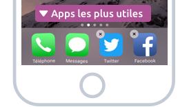 Mettez les apps les plus utiles sur la barre en bas de l'écran pour les avoir toujours à portée