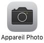 L'icône de l'appareil photo