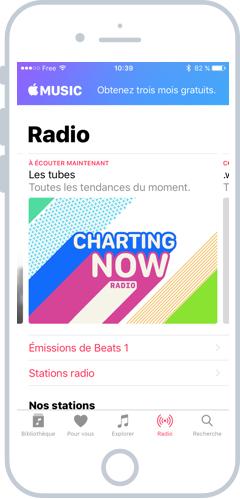 Apple Music propose de la musique illimité par abonnement mensuel