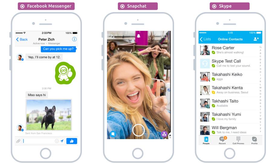 Les apps de communication et vidéo sur iOS