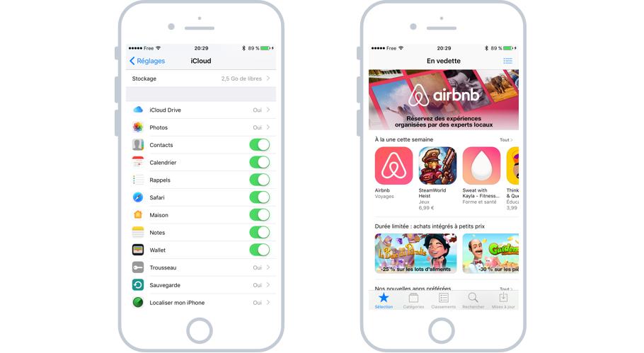 iCloud permet de synchroniser et sauvegarder les données de son iPhone et de télécharger des apps sur l'App Store