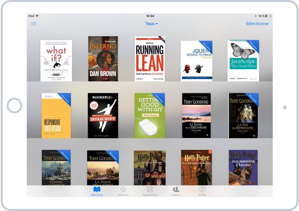 Vos livres numériques dans votre bibliothèque iBooks