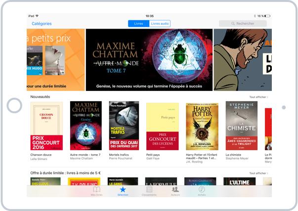 La boutique ibooks où vous pourrez trouver des milliers de livres de tous genres et auteurs