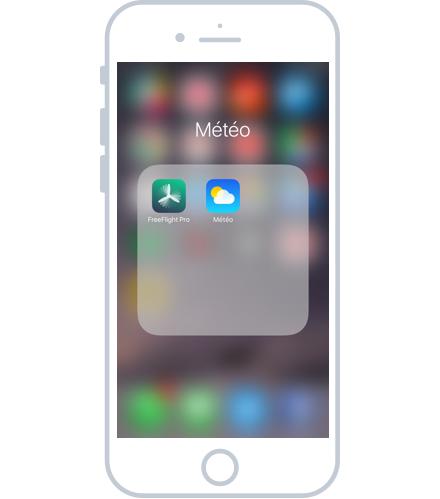 Consulter l'intérieur d'un dossier iOS
