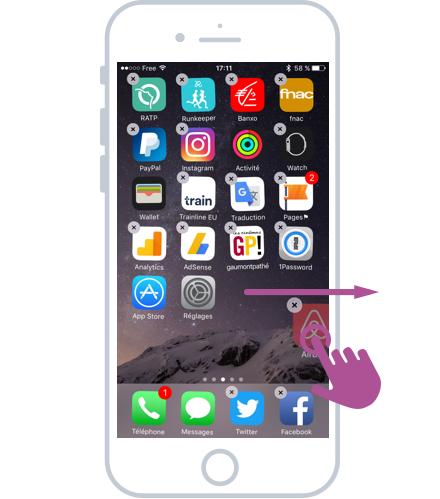 Déplacer une app vers un autre écran