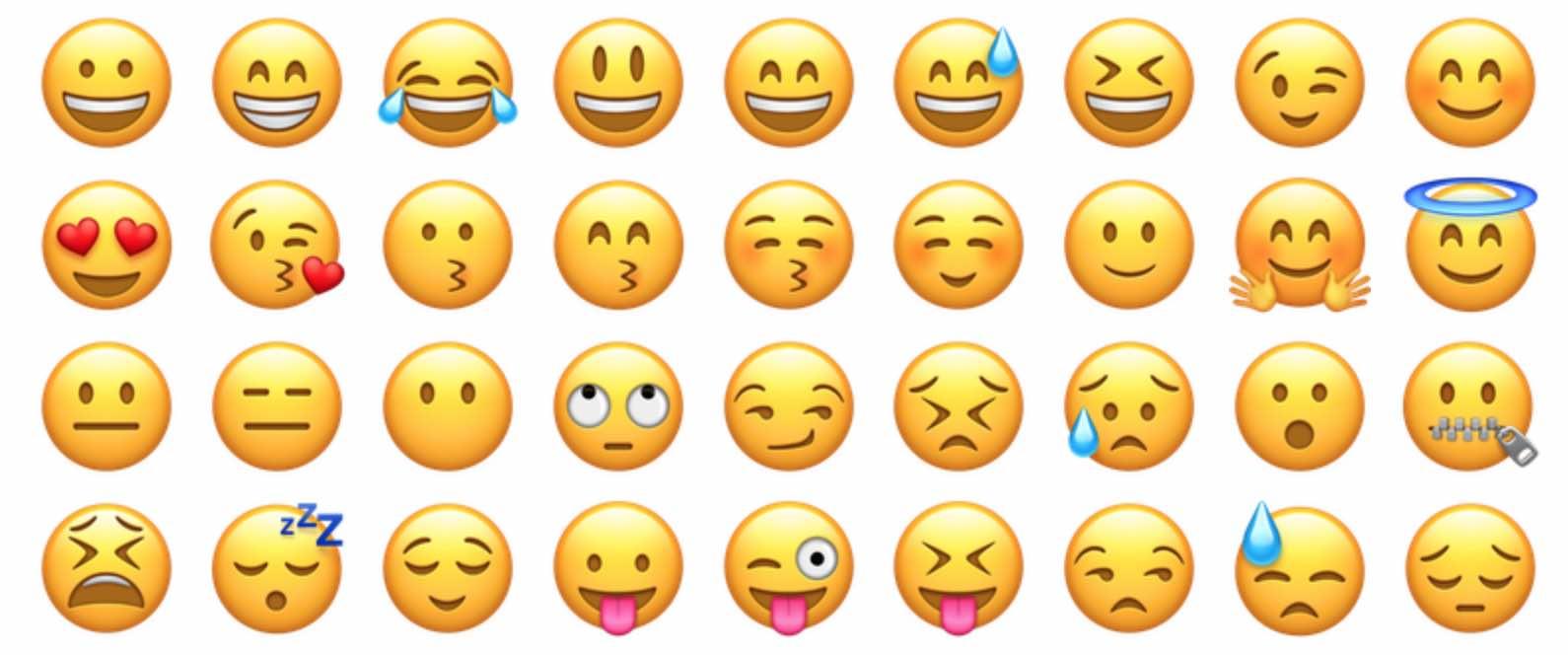 Une palette d'expressions avec les Emojis