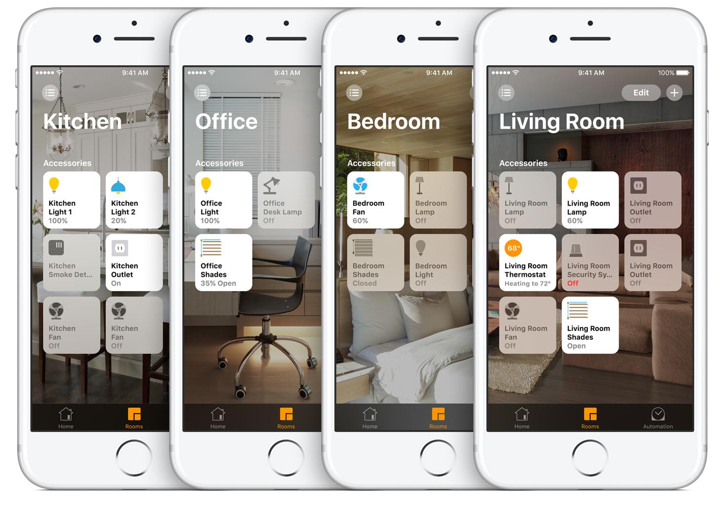Les objets connectés peuvent être pilotés et paramétrés sur votre smartphone