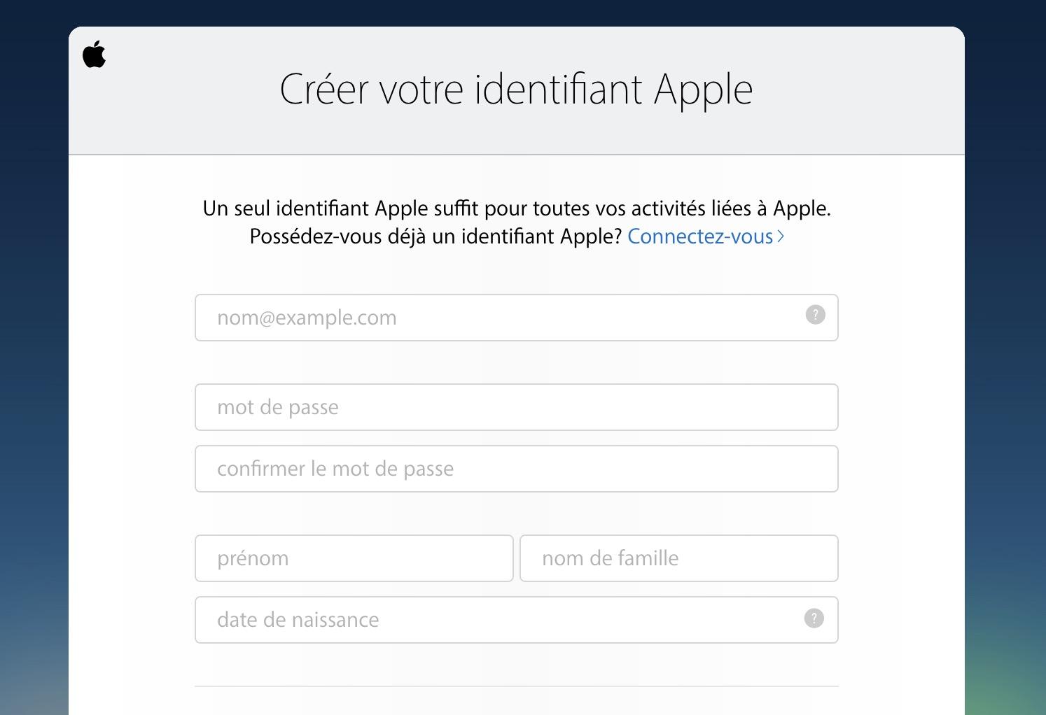 créer son compte iCloud gratuitement