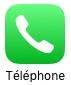 L'icône du téléphone est plutôt explicite
