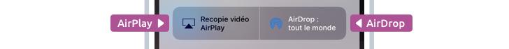 AirPlay vous permet de jouer films et musiques sur une TV, et AirDrop vous permet d'envoyer des fichiers