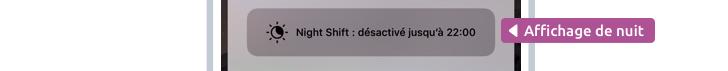 Night Shift adapte les couleurs de l'écran en fonction du moment de la journée