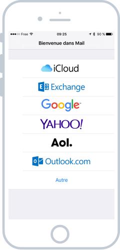 Choisissez votre fournisseur de mails