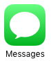 L'icône des messages représente une bulle de conversation comme dans les BD