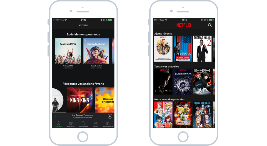 D'autres applications musicales sont disponibles sur iPhone : Spotify, Deezer...