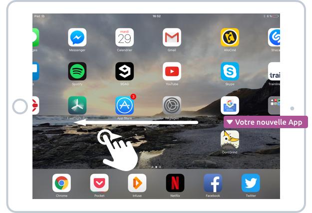 Votre nouvelle app après son téléchargement sur l'App Store
